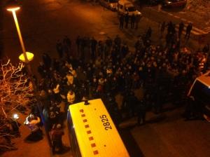 Ocupación de Caixa Sabadell (03-02-2013)