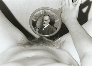 Sidmung Freud reflejado en un espejo 00