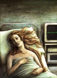 La Venus de Boticceli enferma